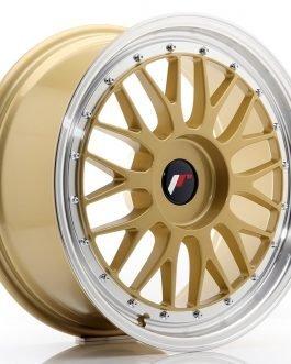 JR Wheels JR23 18×8 ET30-45 BLANK Gold w/Machined Lip
