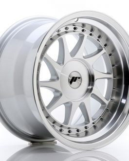 JR Wheels JR26 17×10 ET0-25 BLANK Silver Machined Face