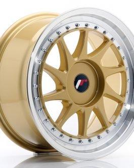 JR Wheels JR26 17×8 ET20-35 BLANK Gold w/Machined Lip