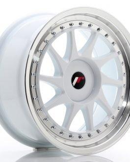 JR Wheels JR26 17×8 ET20-35 BLANK White w/Machined Lip