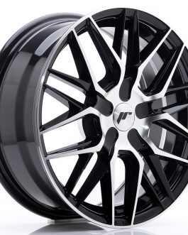 JR Wheels JR28 17×7 ET20-45 BLANK Gloss Black Machined Face