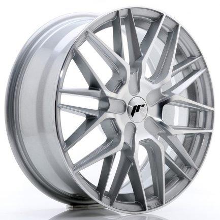 JAPAN RACING JR Wheels JR28 17x7 ET20-45 BLANK Silver Machined Face 7.00x17