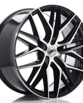 JR Wheels JR28 22×9 ET30-45 5H BLANK Gloss Black Machined Face