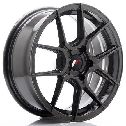 JAPAN RACING JR Wheels JR30 17x7 ET20-40 5H BLANK Hyper Gray 7.00x17