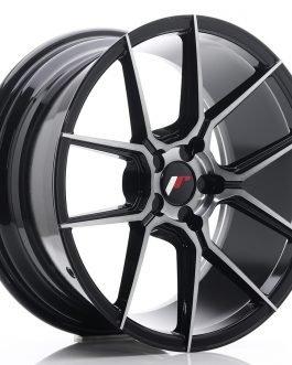 JR Wheels JR30 18×8,5 ET20-40 5H BLANK Black Brushed w/Tinted Face