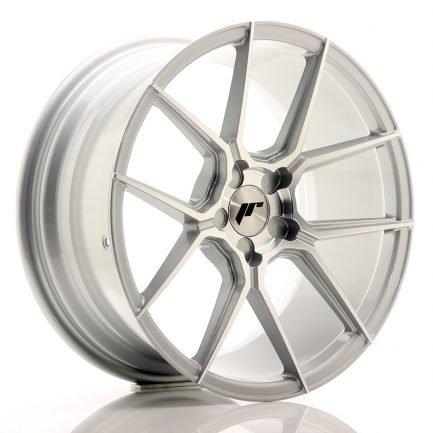 JAPAN RACING JR Wheels JR30 18x8,5 ET20-40 5H BLANK Silver Machined Face 8.50x18