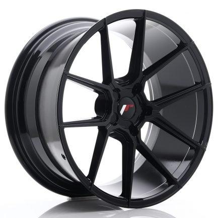 JAPAN RACING JR Wheels JR30 20x10 ET20-40 5H BLANK Glossy Black 10.00x20