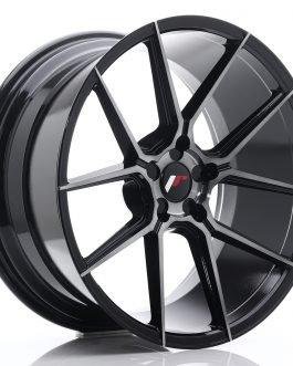 JR Wheels JR30 20×10 ET20-40 5H BLANK Black Brushed w/Tinted Face