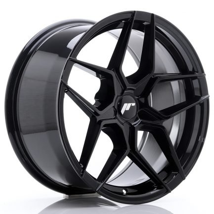JAPAN RACING JR Wheels JR34 18x9 ET20-42 5H BLANK Glossy Black 9.00x18