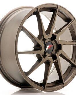 JR Wheels JR36 18×8 ET20-52 5H BLANK Matt Bronze