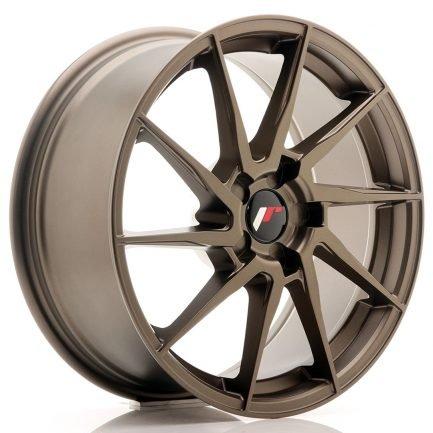 JAPAN RACING JR Wheels JR36 18x8 ET20-52 5H BLANK Matt Bronze 8.00x18