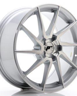 JR Wheels JR36 18×8 ET20-52 5H BLANK Silver Brushed Face