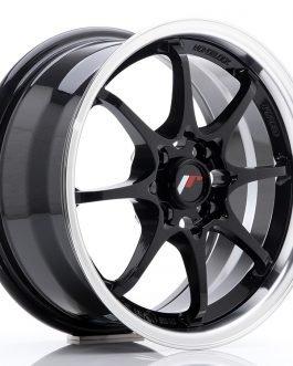 JR Wheels JR5 15×7 ET35 4×100 Gloss Black w/Machined Lip