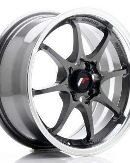 JR Wheels JR5 15×7 ET35 4×100 Gun Metal w/Machined Lip