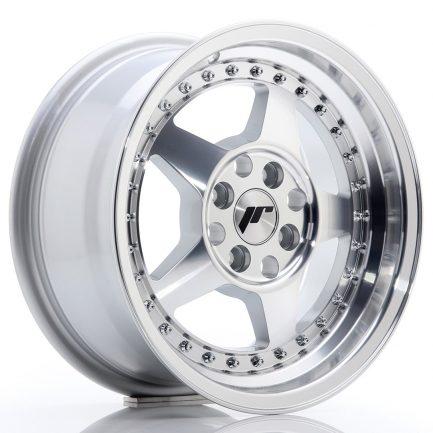 JAPAN RACING JR Wheels JR6 15x7 ET35 4x100 Silver Machined Face 7.00x15