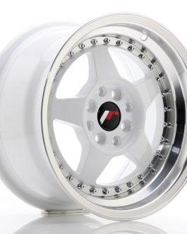 JR Wheels JR6 15×8 ET25 4×100/108 White w/Machined Lip