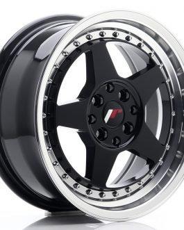 JR Wheels JR6 16×7 ET35 4×100/114 Gloss Black w/Machined