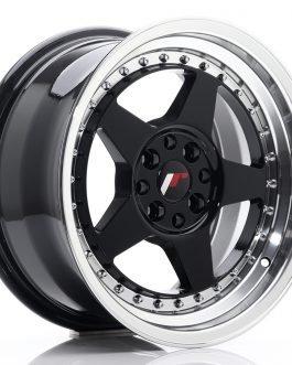 JR Wheels JR6 16×8 ET30 4×100/114 Gloss Black w/Machined