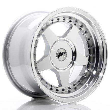 JAPAN RACING JR Wheels JR6 16x9 ET0-20 BLANK Silver Machined Face 9.00x16