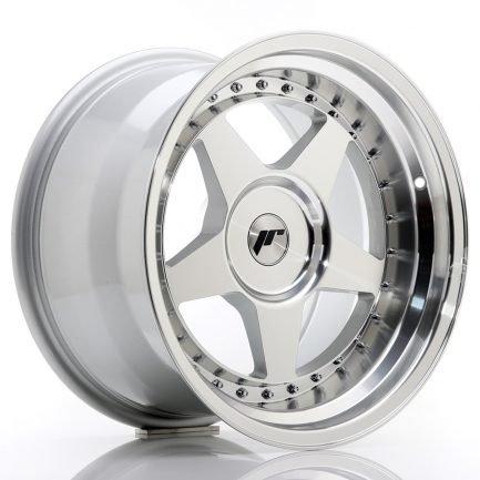 JAPAN RACING JR Wheels JR6 17x10 ET0-20 BLANK Silver Machined Face 10.00x17