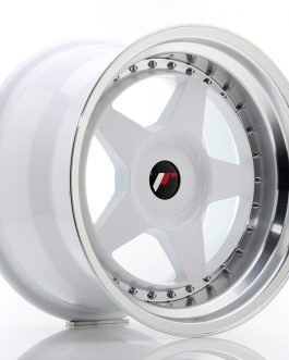 JR Wheels JR6 17×10 ET20 BLANK White w/Machined Lip