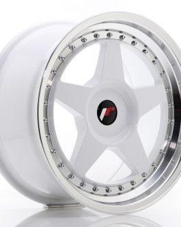 JR Wheels JR6 17×9 ET20-35 BLANK White w/Machined Lip