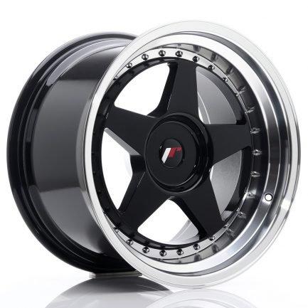 JAPAN RACING JR Wheels JR6 18x10,5 ET0-25 BLANK Gloss Black w/Machined 10.50x18