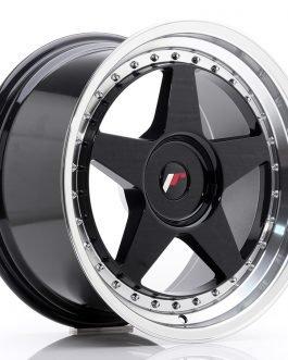 JR Wheels JR6 18×9,5 ET20-40 BLANK Gloss Black w/Machined
