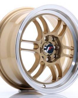JR Wheels JR7 15×7 ET38 4×100/114 Gold w/Machined Lip