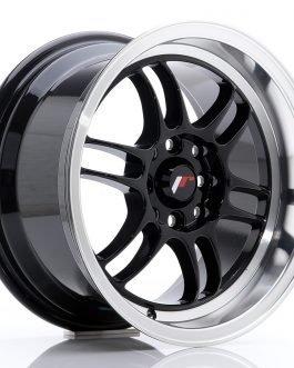 JR Wheels JR7 15×8 ET35 4×100/114 Gloss Black w/Machined Lip