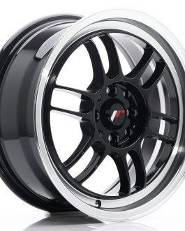 JR Wheels JR7 16×7 ET38 4×100/114 Gloss Black w/Machined Lip