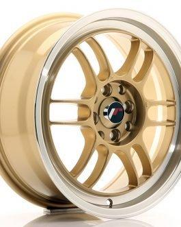 JR Wheels JR7 16×7 ET38 4×100/114 Gold w/Machined Lip