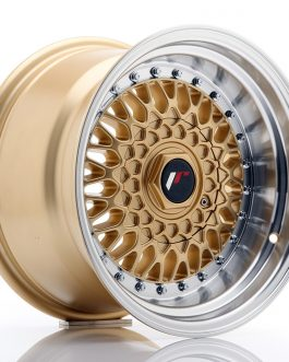 JR Wheels JR9 15×9 ET10 4×100/108 Gold w/Machined Lip
