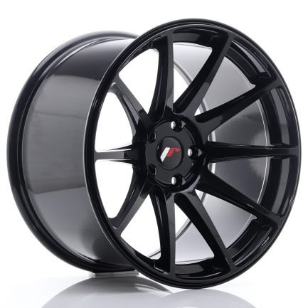 JAPAN RACING JR Wheels JR11 19x11 ET25 5x112 Glossy Black 11.00x19