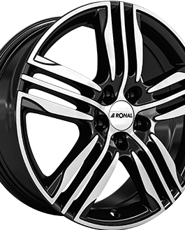 Ronal R57 Gloss Black / Polished 7.5×17 ET: 45 – 5×108
