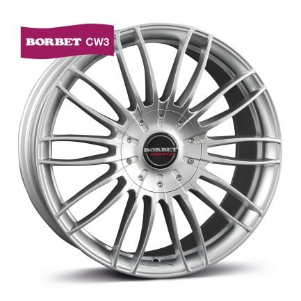 Borbet CW3 sterling silver 9x20 ET: 40 - 5x114.3