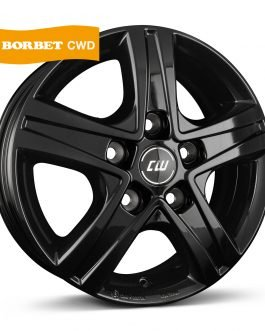 Borbet CWD black glossy 6.5×16 ET: 45 – 5×114.3