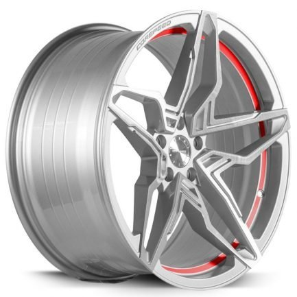 Corspeed KHARMA Silver-brushed-Surface undercut Trimline red 9.0x20 ET: 40 - 5x114.3