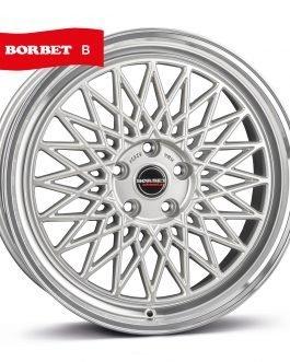 Borbet B silver rim polished 8×17 ET: 45 – 5×112