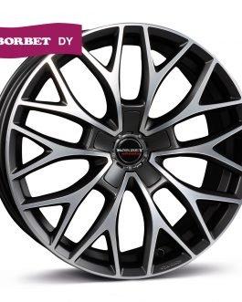 Borbet DY dark grey polished matt 8.5×20 ET: 40 – 5×108