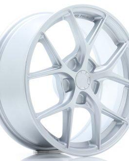 JR Wheels SL01 17×7 ET20-40 5H BLANK Matt Silver